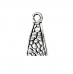Kolmnurkse vormiga, reljeefse ornamendiga riputis / Ornamental Jewelery Spacer with Dotted Pattern / 15x8x7,5mm
