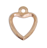 Metal Heart Charm / 10 x 7mm