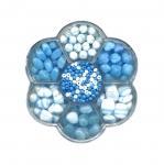 Lillekujuline Tsehhi klaaspärlite valikkarp