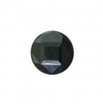 Must, tahulise mustriga, kannaga plastiknööp ø15 mm, suurus: 24L