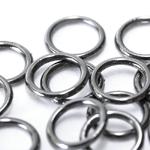 Rõngad metallilaadsed plastikust, suletud / Plastic Connector Ring / 10,5 x 1,5mm