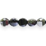 Round faceted glass beads, Jablonex (Czech), 12x9mm