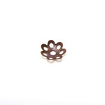 Bead Cap with Flower Pattern / 8mm