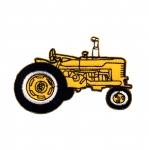 Embroidered Iron-On Patch; Tractor / 8 x 5cm