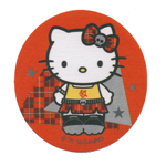 Sticker; Goth Hello Kitty / 7,3cm