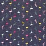 Flamingodega, veniv, puuvillane kangas, Megan Blue Fabrics 007235, 150cm/220g