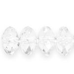Lapik ümmargune tahuline kristall 14x9mm