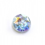Ümar kristallilaadne akrüülnööp 15mm, 24L
