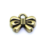 Metal Bow Charm / 12 x 9,5 x 3mm