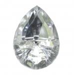 Tilgakujuline kristallilaadne akrüülnööp 24x18mm, 38L