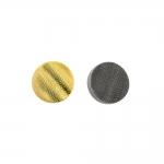 Metallilaadsest plastikust, reljeefse lainemustriga, kannaga nööp 10mm, 16L