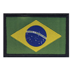 Embroidered Iron-On Patch; Brazilian Flag / 6,3 x 4,2cm