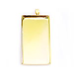 Rectangular Pendant Base / 51 x 26mm
