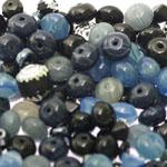 Pärlisegu Sinakas-tumehallikates toonides eri suurusega pärlitest 5-12mm, 100/50g pakk