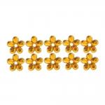 Ümarad, lillekujulised õmmeldavad dekoratiivkivid 9mm, 10tk