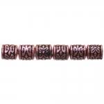 Torujad, antiikse reljeefse mustriga plasthelmed 8x8mm