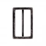 Metal triglide buckle, fashion buckle 48x30 mm, for belt width 40 mm