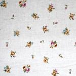 Lillemustriga dekoratiivkangas linase kanga taoline, puuvillane kangas, 112cm, 6513