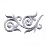 Triigitav ornament, parempoolselt joondatud 13,5x6,5cm
