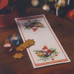 Jõuluteemaline linik päkapikuga