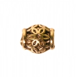 Toruja kujuga, antiikse mustriga ehte vahedetail / Ornamental Jewelery Spacer with Dotted Pattern / 6,5x5,5mm