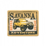 Triigitav Aplikatsioon; Auto, `Savanna Adventure` / Embroidered Iron-On Patch;/ 8x6,5cm
