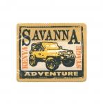 Triigitav Aplikatsioon; Auto, `Savanna Adventure` / Embroidered Iron-On Patch;/ 8x6,5cm