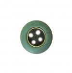 Metallist keskosaga värviline plastiknööp, nelja auguga, ø15 mm, suurus: 24L