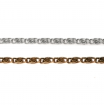 Roositaoliste punutistega tihe raudkett 9x4x1,5mm