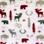 Põtrade, karudega fliis, 150cm, 7007, Polar estampado