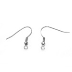 Stainless Steel Earring Hooks; 2pc / 23 x 21mm