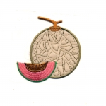 Triigitav Aplikatsioon; Eksootilised puuviljad / Embroidered Iron-On Patch; Exotic Fruit / 7,5 x 6,5cm
