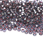 Czech Rocaille silverline beads, Seed Beads, square hole, No.6 (3.7-4.3 mm), Preciosa