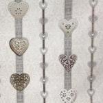 Tugevam dekoratiivkangas, jõuluteemaline, südametega 140cm, Art. 91194