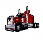 Embroidered Iron-On Patch; Red Truck / 9 x 6cm