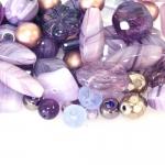 Pärlisegu lillades toonides, pärlitest 6-18mm, 100/50g pakk