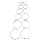 Round Loop Earring Ear Wire Pairs and Sets / 25, 30, 35, 40, 45, 50mm