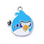 Metal `Angry Birds` Charm / 25 x 21mm
