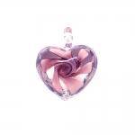 Aasaga südamekujuline riputis lillega 25x11x5mm