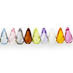 Hulknurkne piisakujuline kristall 17x8mm