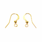 Semi-Flat Earring Hooks; 2tk / 14 x 0,5mm