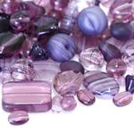 Pärlisegu Ploomilillakatest erikujulistest pärlitest 6-20mm, 100/50g pakk