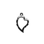 Artistic Wire Wrapper, Curved Heart / 30 x 20mm