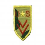Triigitav, tikitud piltaplikatsioon, `US` sõjaväe vapp 8,5x4,5cm