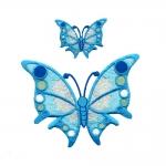 Triigitav Aplikatsioon värvilised liblikad 8,5x7cm ja 4x3cm