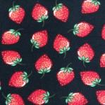 Puuvillane trikookangas, maasikatega 124.643