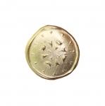 Metallist, kuldne, reljeefse mustriga, kannaga nööp 23mm, 36L