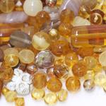 Pärlisegu pruunikatest erikujulistest pärlitest 6-17mm, 100/50g pakk
