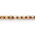 Piklik tahuline, otstest kuldne (Jablonex) 6x6mm klaashelmes
