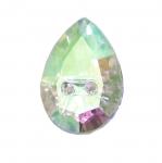 Tilgakujuline kristallilaadne akrüülnööp 18x13mm, 28L